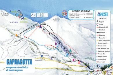 cartina piste Monte Capraro